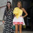 Anna Dello Russo et Giovanna Battaglia arrivent au Palais de Tokyo pour assister au défilé Rochas printemps-été 2015. Paris, le 24 septembre 2014.