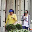 Baria Alamuddin, en pleine séance de shopping à Milan, le 25 septembre 2014, peu avant le mariage de sa fille Amal avec George Clooney à Venise