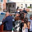 George Clooney and his girlfriend Amal Alamuddin arrive in Venice, Italy, September 26, 2014. The civil wedding is expected to take place in a 14th century palace, owned by the Venice council, almost in front of the Aman resort. Photo by Alessandro Di Meo/Ansa/ABACAPRESS.COM26/09/2014 - Venice
