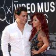 Nicole Polizzi et son fiancé Jionni LaValle à la cérémonie des MTV Video Music Awards, le 25 août 2013.
