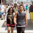 """Nicole """"Snooki"""" Polizzi et son fiancé Jionni LaValle dans le New Jersey, le 6 juin 2012."""