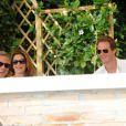 George Clooney, à Venise le 27 septembre 2014, a pris le petit-déjeuner avec ses amis Cindy Crawford et Rande Gerber, au lendemain de son enterrement de vie de garçon lors du week-end de son mariage avec Amal Alamuddin.
