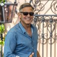 George Clooney - Les invités du mariage de George Clooney prennent un petit-déjeuner à Venise. Le 27 septembre 2014  Actor George Clooney is seen enjoying a pre-wedding breakfast with model Cindy Crawford, Rande Gerber and other guests at the swanky Cipriani hotel and restaurant in Venice, Italy on September 27, 2014. The star is due to marry human rights lawyer Amal Alamuddin this weekend.27/09/2014 - Venise