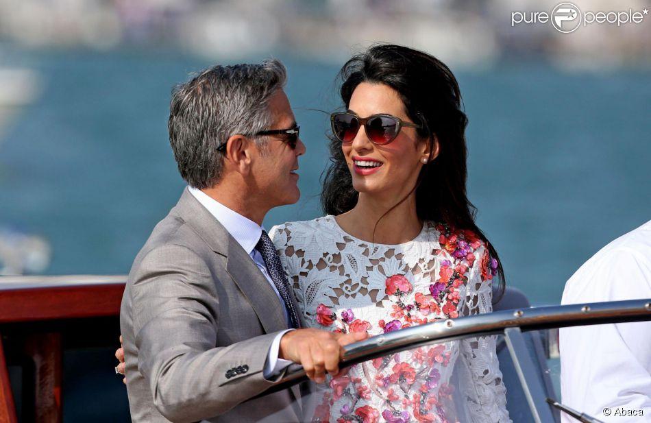George Clooney et Amal Alamuddin apparaissent pour la première fois après  leur mariage, le 28 210bbcbbb7b4