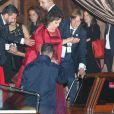 Baria Alamuddin (mère de Amal Alamuddin) - Les invités quittent l'hôtel Aman Canal Grande où a eu lieu le mariage de George Clooney et Amal Alamuddin à Venise, le 27 septembre 2014.  Guests seen departing the Aman Canal Grande Hotel after attending the wedding of George Clooney and Amal Alamuddin in Venice, Italy on September 27, 2014.27/09/2014 - Venise