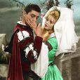 Alain Delon et Brigitte Bardot sur le tournage du film Les Amours célèbres en 1961