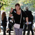 """Michèle Bernier lors du 2e tournoi de pétanque au profit de l'association """"MeghanOra"""" sur l'Esplanade des Invalides à Paris, le 28 septembre 2014"""