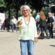 """Véronique de Villèle lors du 2e tournoi de pétanque au profit de l'association """"MeghanOra"""" sur l'Esplanade des Invalides à Paris, le 28 septembre 2014"""