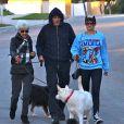 Amanda Bynes se balade avec ses parents et ses chiens à Thousand Oaks, le 7 decembre 2013