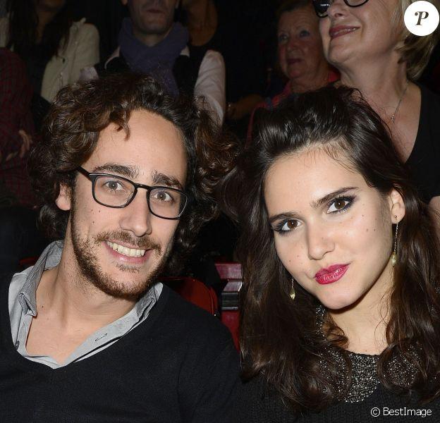 Thomas Hollande et Joyce Jonathan - People au concert de Céline Dion au POPB de Paris, le 29 novembre 2013.