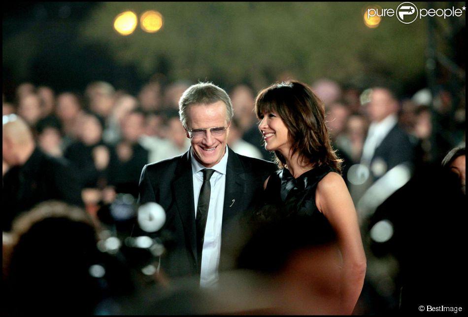 Sophie Marceau et Christophe Lambert à Marrakech le 4 décembre 2010.
