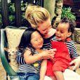 Katherine Heigl et ses filles : Adalaide et Naleigh le 1er mai 2014