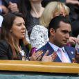 Marion Bartoli avec son boyfriend dans la Royal Box de Wimbledon, le 5 juillet 2014 au All England Lawn Tennis and Croquet Club de Wimbledon, à Londres
