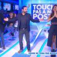 Cyril Hanouna reçoit le 6 octobre 2014 la chanteuse Nicole Scherzinger dans l'émission Touche pas à mon poste sur D8