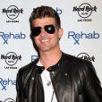 "Robin Thicke au club ""Rehab"" du Hard Rock Hotel & Casino de Las Vegas le 12 avril 2014"
