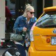 Tallulah Willis cherche un taxi à New York, le 19 septembre 2014.