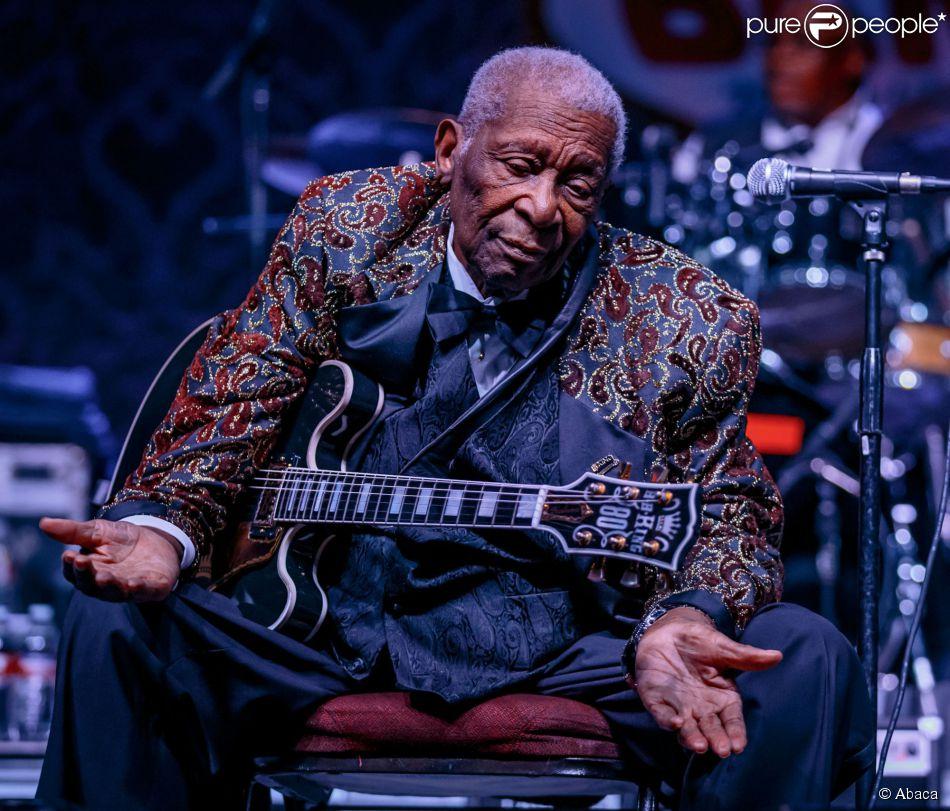 La légende du blue B.B. King à Las Vegas, le 27 septembre 2014.