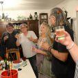 Exclusif - Mylène Demongeot entourée de Gilles, Didier Desbrosses, Claire-Marie Cuvilly, Mino Cinelu et Valérie Flan, célèbre son 79e anniversaire à son domicile de Châtelain, les 27 et 28 septembre 2014.