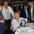 Exclusif - Françoise Salimov, Jacques Fieschi, Alain Page et Alain Layrac - 79e anniversaire de Mylène Demongeot au château du Chêne Vert à Château-Gontier, les 27 et 28 septembre 2014.