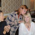 Exclusif - Chris Gamblin, la chanteuse Irène Roussel et Mylène Demongeot - 79e anniversaire de Mylène Demongeot au château du Chêne Vert à Château-Gontier, les 27 et 28 septembre 2014.
