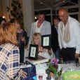 Exclusif - Françoise Salimov, Alain Page, Jacques Fieschi et Alain Layrac - 79e anniversaire de Mylène Demongeot au château du Chêne Vert à Château-Gontier, les 27 et 28 septembre 2014.