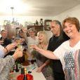 Exclusif - Gilles, Didier Desbrosses, Claire-Marie Cuvilly, Mino Cinelu et Valérie Flan - 79e anniversaire de Mylène Demongeot dans sa maison de Châtelain en Mayenne, les 27 et 28 septembre 2014.