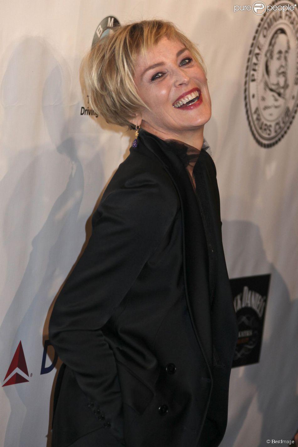Sharon Stone - People à la soirée de gala pour la fondation Friars à New York, le 7 octobre 2014.