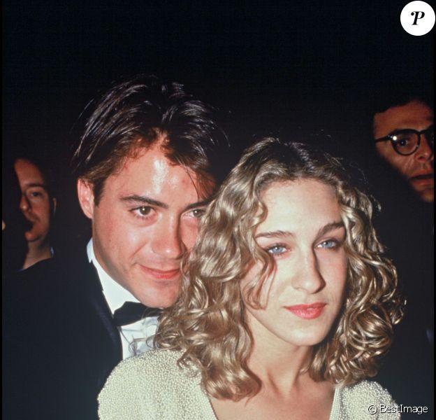 Robert Downey Jr et Sarah Jessica Parker, lors d'une soirée en 1991
