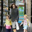 Sarah Jessica Parker et ses filles Marion et Tabitha à New York, le 7 octobre 2014
