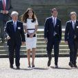 Kate Middleton soutenait Ben Ainslie le 10 juin 2014 au Musée de la marine, à Londres, lors du lancement officiel de la candidature britannique pour la Coupe de l'America 2017.
