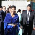 """La princesse Lalla Meryem du Maroc - Inauguration de l'exposition """"Le Maroc contemporain"""" à l'Institut du monde arabe à Paris, le 14 octobre 2014."""