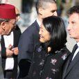 """Fleur Pellerin et Jack Lang - Inauguration de l'exposition """"Le Maroc contemporain"""" à l'Institut du monde arabe à Paris, le 14 octobre 2014."""