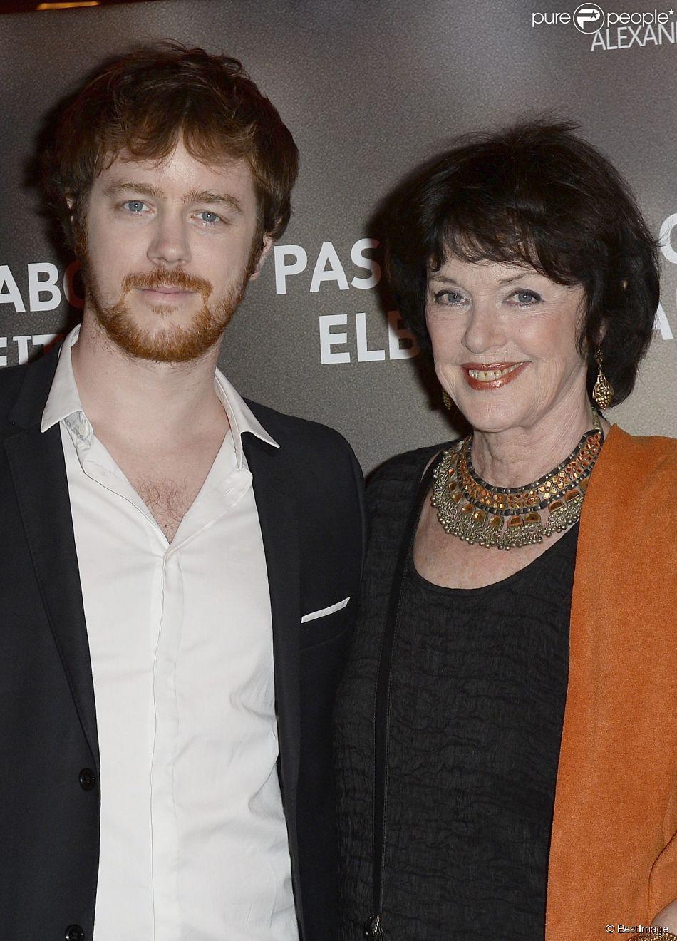 """Anny Duperey et son fils Gaël Giraudeau - Avant-première du film """"24 jours"""" au cinéma Gaumont Marignan à Paris, le 10 avril 2014."""