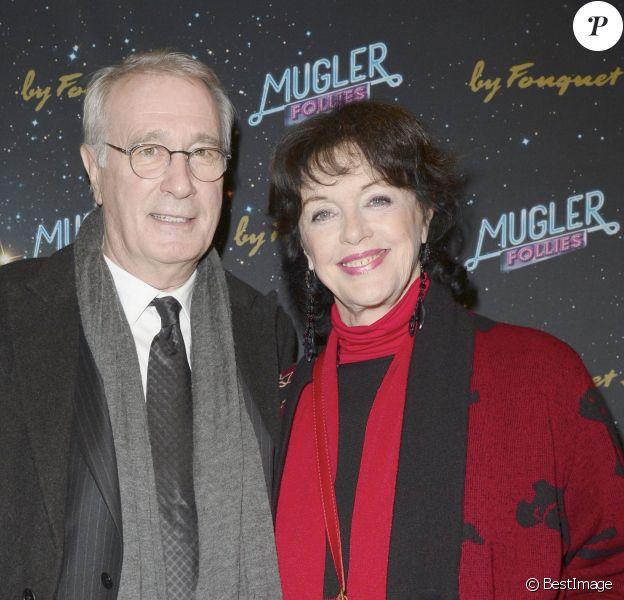 """Anny Duperey et Bernard Le Coq - People a la 2e représentation du spectacle de Thierry Mugler au théâtre Comedia, intitulé """"Mugler Follies"""" à Paris, le 19 décembre 2013."""