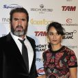 Eric Cantona et sa femme Rachida Brakni lors de la cérémonie du Golden Foot Award à Monaco le 17 Avril 2012