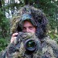 Sébastien Valiela en planque en forêt