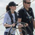 Kate Middleton en skipper lors d'une régate en Nouvelle-Zélande, le 11 avril 2014 à Auckland.