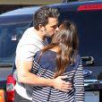 Ben Affleck et Jennifer Garner font du shopping avec leurs filles Violet et Seraphina à Pacific Palisades, le 5 octobre 2014.
