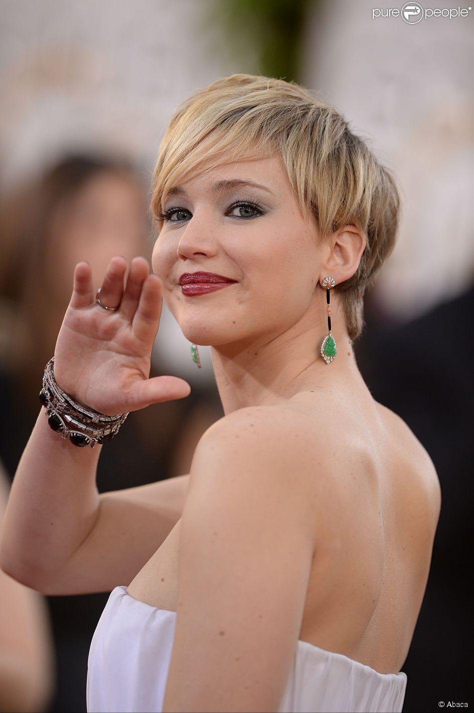 Jennifer Lawrence aux Golden Globe Awards 2014.