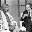 Catherine Deneuve et François Truffaut lors de l'avant-première du film Le Dernier Métro à Paris en 1980