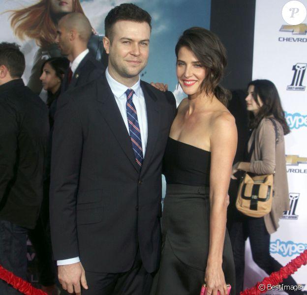 """Cobie Smulders et son fiancé Taran Killam - Avant-première du film """"Captain America"""" à Hollywood, le 13 mars 2014."""