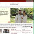 Capture d'écran du site http://www.theismaili.org/ sur lequel la grossesse de la princesse Selwa Kendra Spears a été annoncée