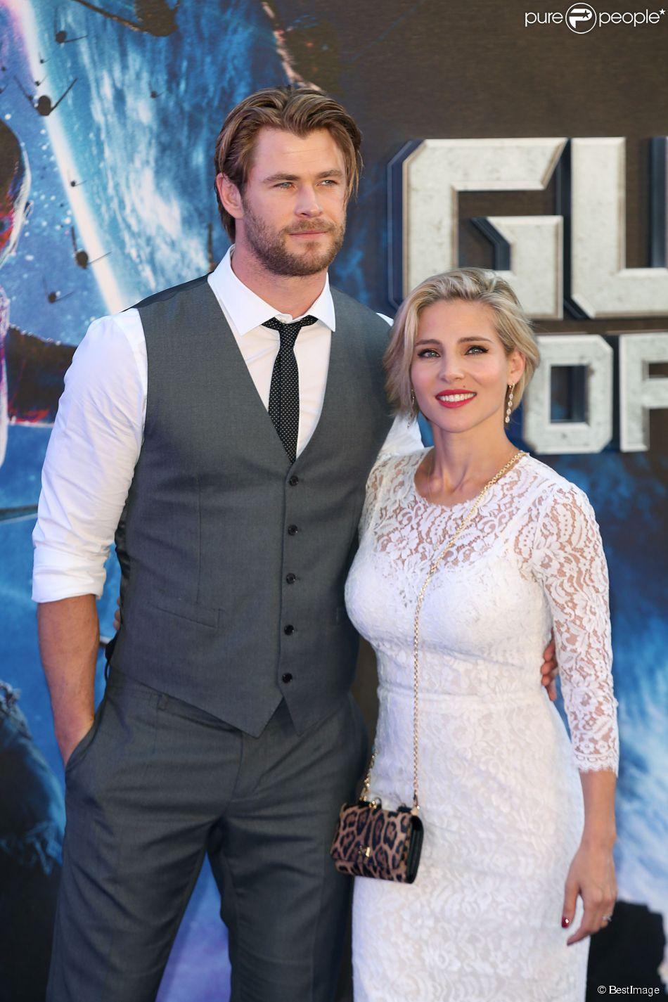 """Chris Hemsworth et Elsa Pataky - Première de """" Guardians of the Galaxy """" à Londres, le 24 juillet 2014"""