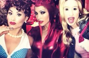 Jennifer Lopez : Diablotin sexy pour Halloween avec Demi Lovato et Iggy Azalea
