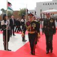 Le roi Abdullah II de Jordanie au Parlement à Amman le 2 novembre 2014 pour la cérémonie d'inauguration de la seconde session du 17e Parlement.