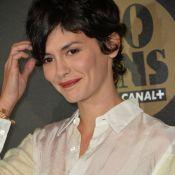 Audrey Tautou élégante devant Marilou Berry, blonde et lookée, pour Canal + !