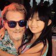 De vacances à Saint-Barth', le clan Hallyday a célébré comme il se doit les 10 ans de Jade et les 6 ans de Joy à l'occasion d'une petite fête sur le thème hawaïen dont Laeticia Hallyday a partagé quelques souvenirs sur son profil Instagram, le 5 août 2014.