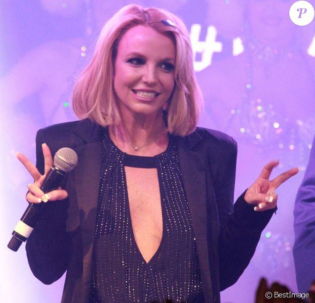 Britney Spears reçoit la clé de la ville de Las Vegas au cours d'une cérémonie à l'hôtel-casino The Linq. Le 5 novembre 2014.