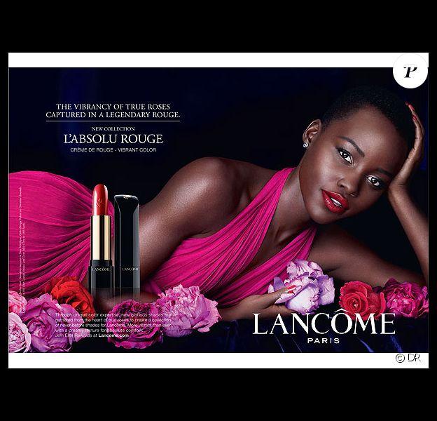 Lupita Nyong'o, photographiée par Mert et Marcus pour le rouge à lèvres L'absolu Rouge de Lancôme.