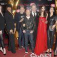 Pierre Commoy, Gilles Blanchard, Jean-Paul Gaultier et Conchita Wurst à la première du show de Conchita Wurst au Crazy Horse à Paris le 9 novembre 2014.